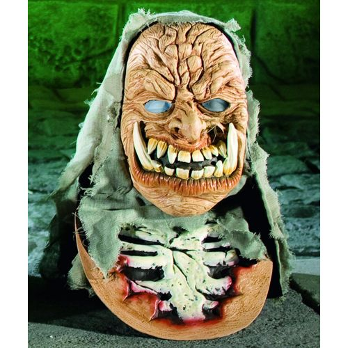 fancy dress and haloween Horror Hooded Overhaead Zombie Mask With Chest Piece