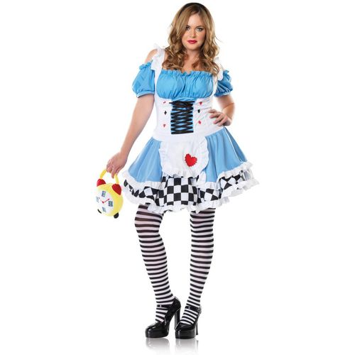 sexy alice in wonderland fancy dress plus size costume size 16-18