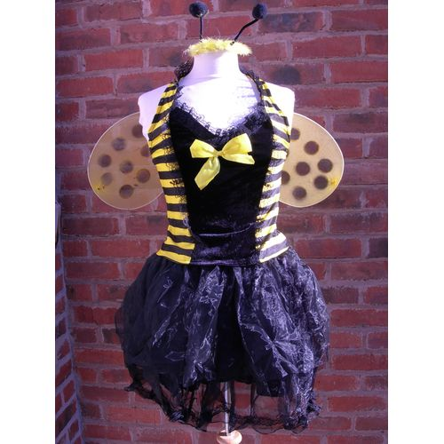 bumble bee sexy fancy dress costume size 12-14