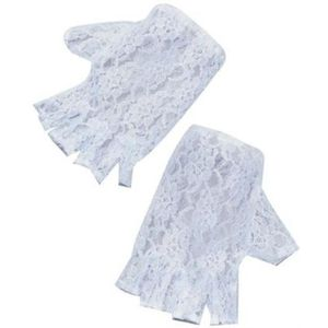 Fingerless Lace Gloves (White)