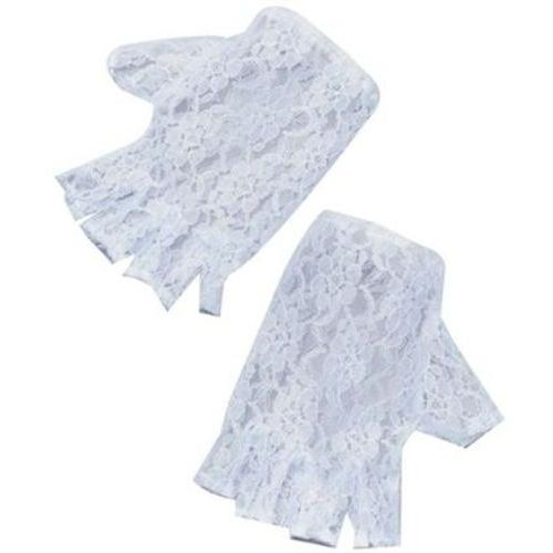 White Lace Fingerless Gloves Fancy Dress Costume Accessory