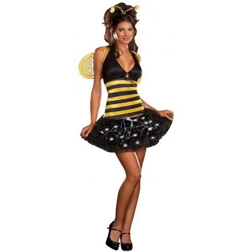 Miss Bee Delightful Dreamgirl Light Up Sexy Fancy Dress Costume