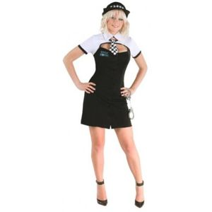 You're Busted Sexy Police Lady Fancy Dress Costume Size 12-14