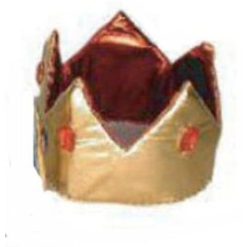 Metallic Crown Hat Gold and Red With Red With Jewels