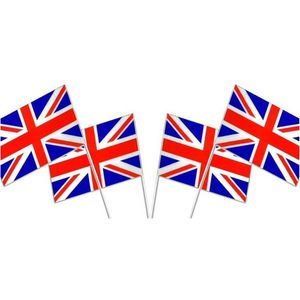 Union Jack Waving Flags 6 Pack