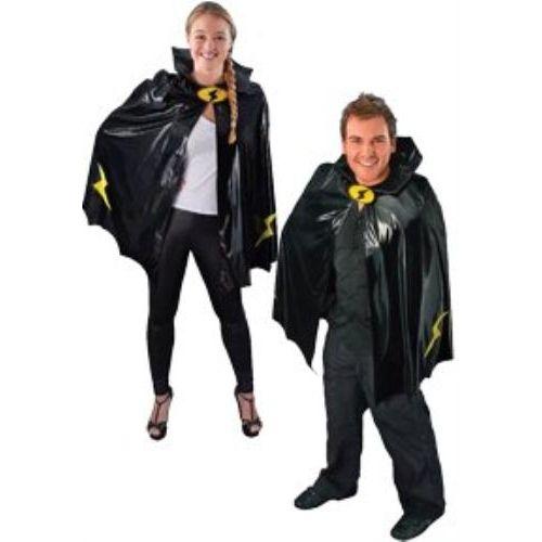 Super Hero Black Cape Fancy Dress Accessory