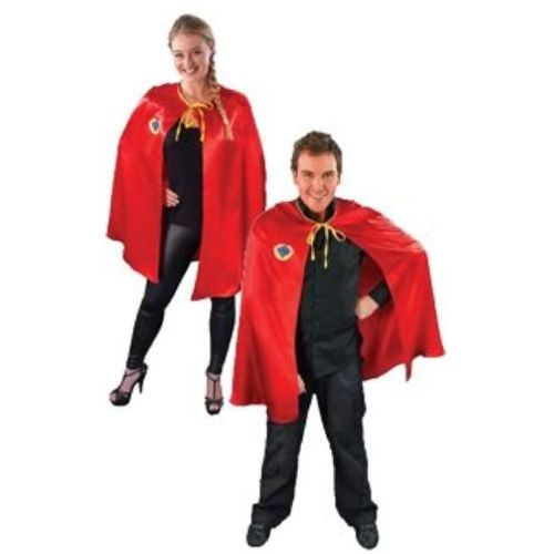 Red Super Hero Cape Fancy Dress Accessory