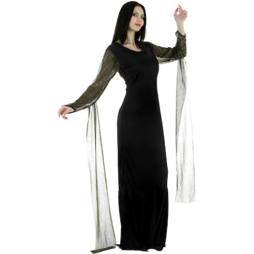 Morticia Dress Fancy Dress Costume Size 8-10