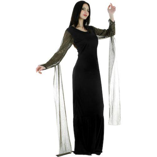 Morticia Dress Fancy Dress Costume Size 12-14