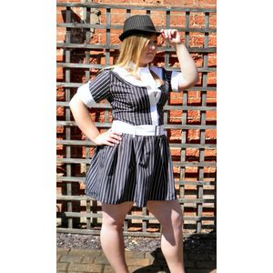 Gangster Girl Dress & Hat Size 16-18