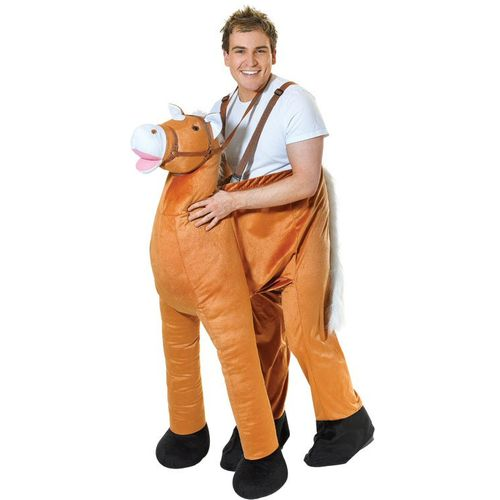 Step In Horse Costume Animal Fancy Dress Costume Free Size