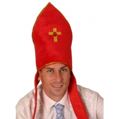 Bishop Red Fancy Dress Hat