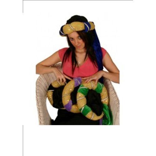 Medieval Style Arabian Night Fancy Dress Hat With lilac Trim