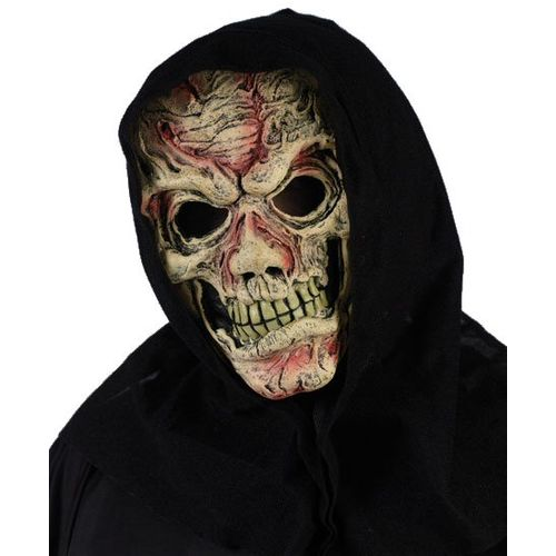 Flesh Zombie Hooded Overhead Mask Halloween & Fancy Dress Accessory