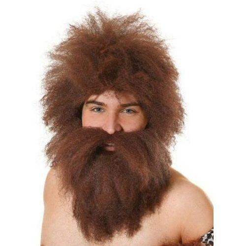 Caveman Wig & Beard Set Fancy Dress Accessory