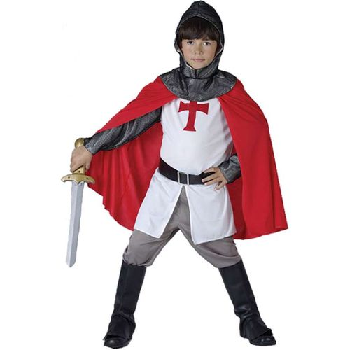 Childrens St George Crusader Knight Fancy Dress Costume Age 9-11Years