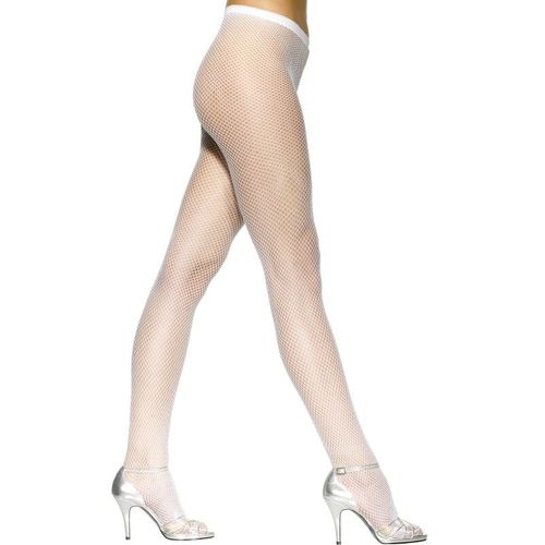 White Fishnet Tights Fancy Dress Costume Accessory