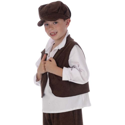 Victorian Urchin Waistcoat Childrens Historical Fancy Dress Accessory