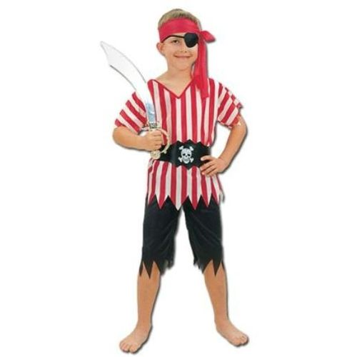 Childrens Pirate Boy Budget Fancy Dress Costume Age 9-11 Years