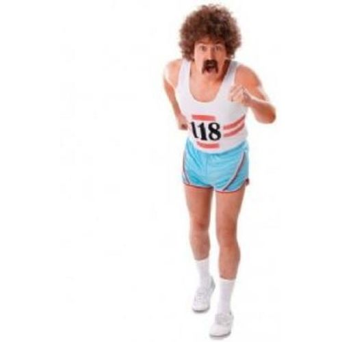 118 118 Style Running Vest & Shorts Fancy Dress Costume
