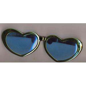 Jumbo Heart Shaped Glasses (Green Metallic Frame)