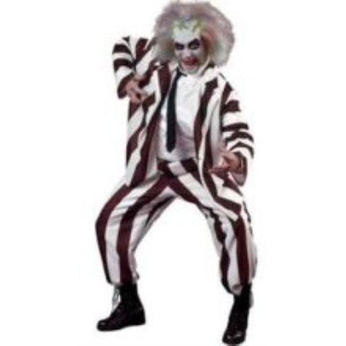 Beetle Juice Style deluxe Fancy Dress Costume One Size Fits Most (L-XL)
