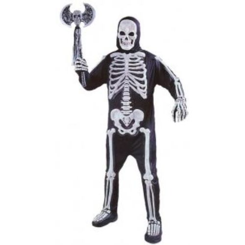 Skeleton All In One Suit Halloween & Fancy Dress Costume One Size Fits Most