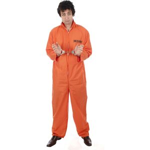 Prisoner Orange Plus Size Boiler Suit Size XL-XXXL