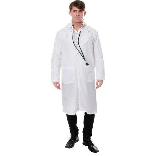 Doctor Professor Scientist Lab Coat Fancy Dress Costume Size L-XL