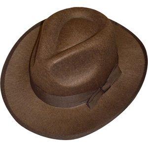 Felt Explorer Fedora Style Hat (Brown)