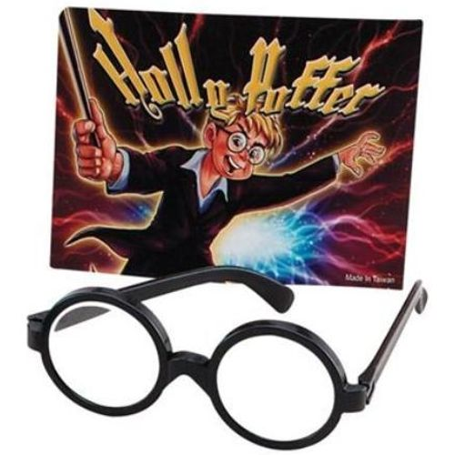 Wizard Boy Harry Potter Style Black Rimmed Glasses Fancy Dress Costume Accessory