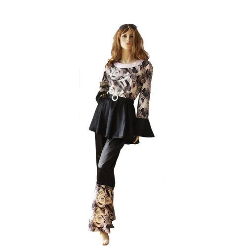 Ladies 70`s Abba Style Fancy Dress Costume Size 12-14