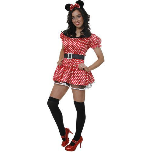 Sexy Minnie Mouse Style Fancy Dress Costume Size 12-14