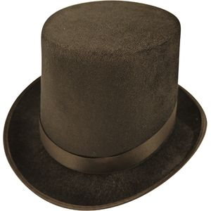 Velour Top Hat (Black)