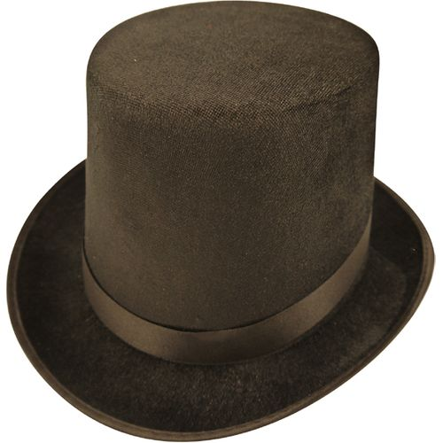 Black Felt Top Hat Fancy Dress Accessory
