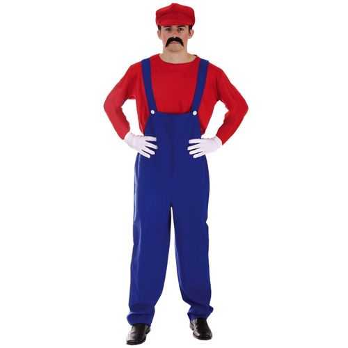 Super Mario Style Fancy Dress Costume One Size Fits Most (M-L)