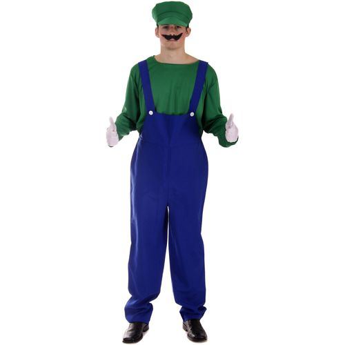 Super Mario Luigi Style Fancy DressCostume One Size Fits (M-L)