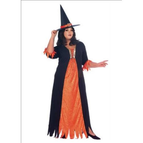 Gothic Witch Plus Size Halloween & Fancy Dress Costume Size 16-22