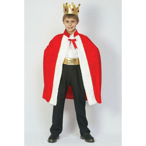 Childs King`s Robe Fancy Dress Set  Age 9-11 Years