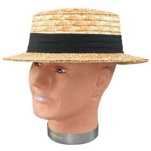 straw boater fancy dress hat