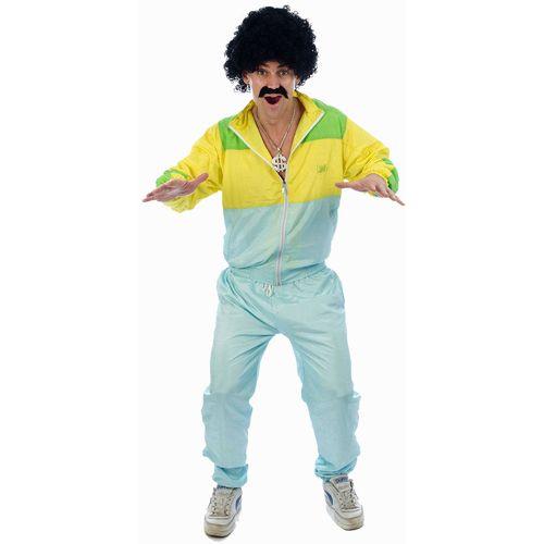 80s Shell Suit Scouser 1980s Jogger Jimmy Saville Fancy Dress Costume S-M
