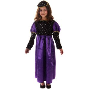 Tudor Medieval Renaissance Queen Girl Costume 7-9 Years