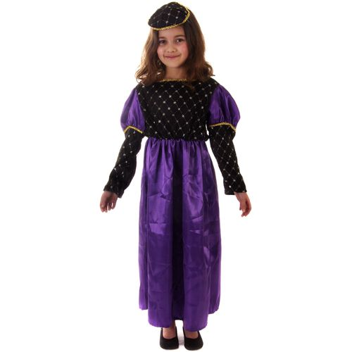 Renaissance Queen Age 7-9 Years Childrens Medieval Fancy Dress Costume