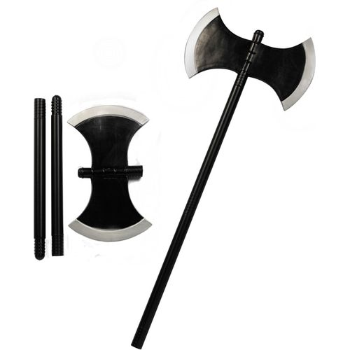 Plastic Axe 3 Piece Total Length Approx 74cm Halloween & Medieval Fancy Dress Accessory