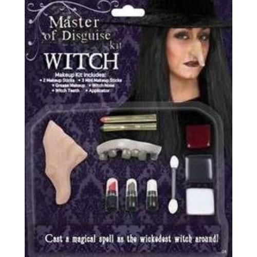 Witch Deluxe Make Up Kit Halloween & Fancy Dress Accessory