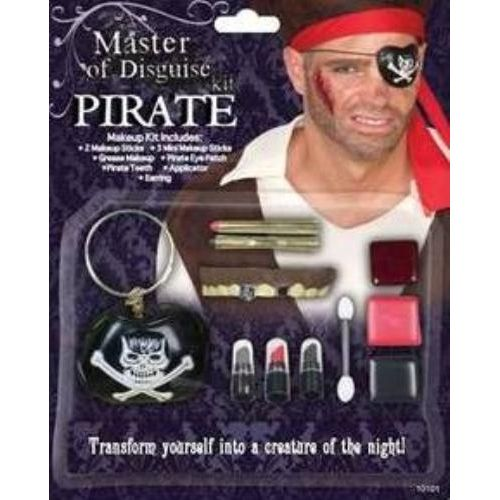 Pirate Deluxe Make Up Kit Halloween & Fancy Dress Accessory