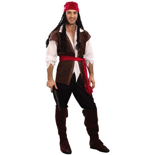 Caribbean Pirate Fancy Dress Costume (L-XL)