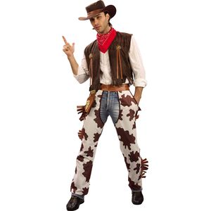 Adult Cowboy Fancy Dress Costume Size L-XL