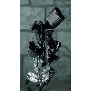 Four Black Roses Halloween Gothic Decoration
