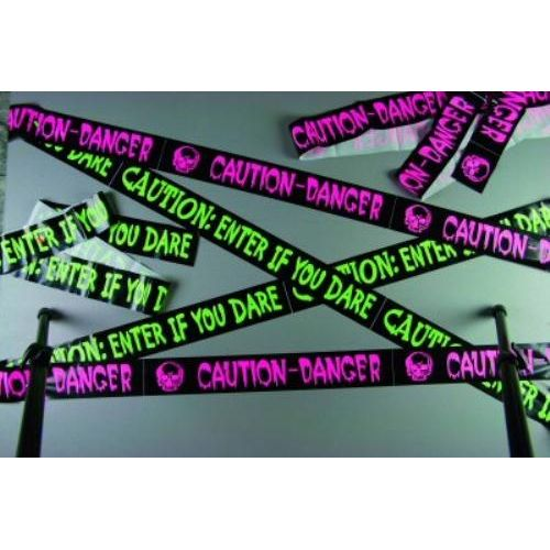 "Fright Tape ""Caution: Enter If You Dare"" Approx 20 Feet Halloween Party Accessory"